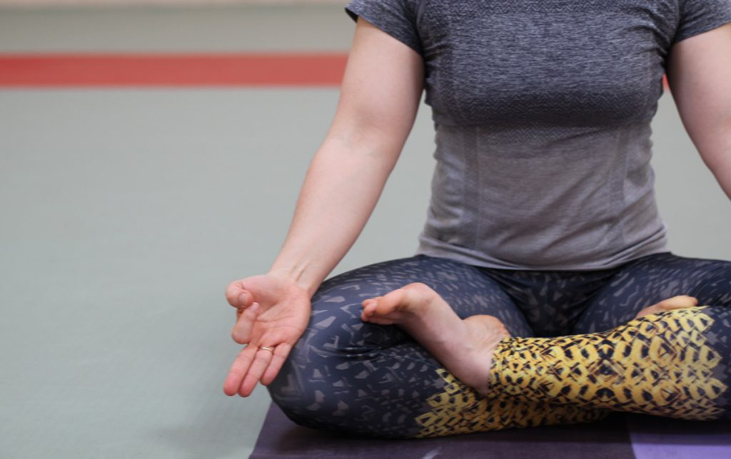 girl meditation lotus pose